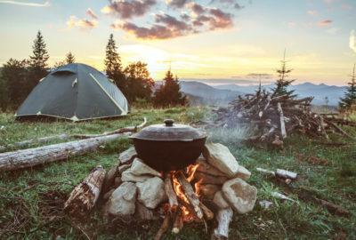 Camping in freier Natur